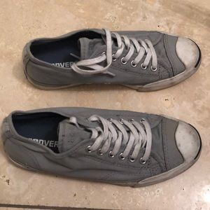 Women's Grey Jack Purcell Converse - Size 7